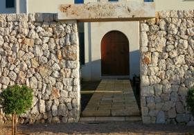 Porta de fusta natural restaurada